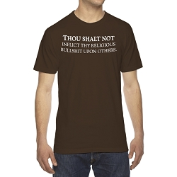 Thou Shall Not Inflict Thy Religious Bullsh*t Upon Others Men's Cotton Crew Neck T-Shirt