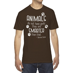 Animals do not Have Gods They are Smarter Than That Men's Cotton Crew Neck T-Shirt