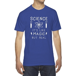 Science it's Like Magic but Real Men's Cotton Crew Neck T-Shirt