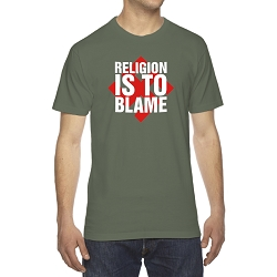 Religion is to Blame Men's Cotton Crew Neck T-Shirt