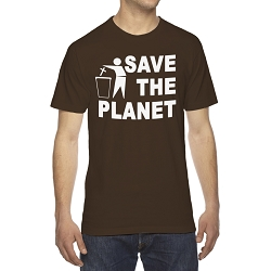 Save the Planet Toss Religion Men's Cotton Crew Neck T-Shirt