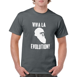 Viva la Evolution! Men's Cotton Crew Neck T-Shirt