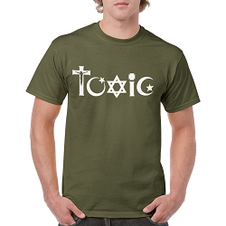 Toxic Religion Men's Cotton Crew Neck T-Shirt