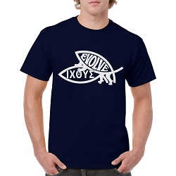 Procreate Evolve & IXOYE Fish Men's Cotton Crew Neck T-Shirt