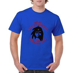 Ask the Native People about Christian Love Men's Cotton Crew Neck T-Shirt