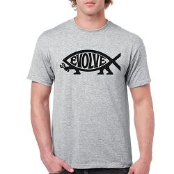 EvolveFish Men's Cotton Crew Neck T-Shirt