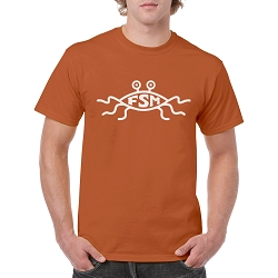 FSM Flying Spaghetti Monster Men's Cotton Crew Neck T-Shirt