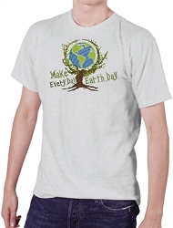 Make Every Day Earth Day Men's Cotton Crew Neck T-Shirt