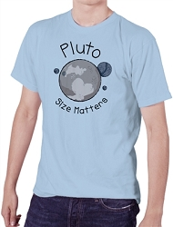 Pluto Size Matters Men's Cotton Crew Neck T-Shirt