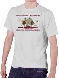 FSM May His Noodly Appendages Touch You This Holiday Men's Cotton Crew Neck T-Shirt