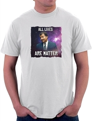 All Lives Are Matter Men's Cotton Crew Neck T-Shirt - [White]