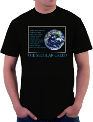 The Secular Creed Men's Cotton Crew Neck T-Shirt - [Black]
