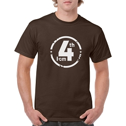 I am 4th Men's Cotton Crew Neck T-Shirt