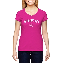 Circle A for Atheist Women's Cotton V-Neck T-Shirt