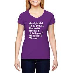 Atheist Letters Definition Women's Cotton V-Neck T-Shirt