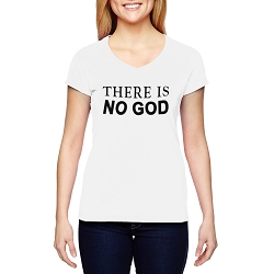 There is No God Women's Cotton V-Neck T-Shirt