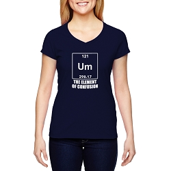 UM the Element of Confusion Women's Cotton V-Neck T-Shirt