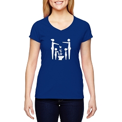 Flush Religion Women's Cotton V-Neck T-Shirt
