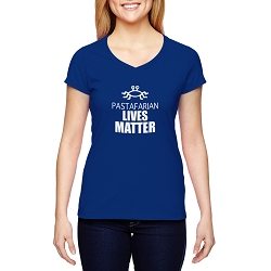 FSM Pastafarian Lives Matter Women's Cotton V-Neck T-Shirt