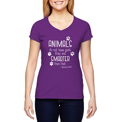 Animals do not Have Gods They are Smarter Than That Women's Cotton V-Neck T-Shirt