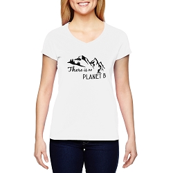 There is No Planet B Women's Cotton V-Neck T-Shirt