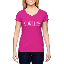 Atheism Periodic Table of Elements Women's Cotton V-Neck T-Shirt