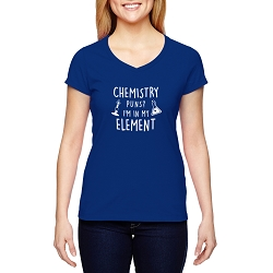 Chemistry Puns I'm in my Element Women's Cotton V-Neck T-Shirt