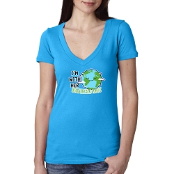 I'm With Her Because There is No Plan B Earth Day Women's Cotton V-Neck T-Shirt