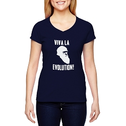 Viva la Evolution! Women's Cotton V-Neck T-Shirt