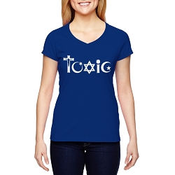 Toxic Religion Women's Cotton V-Neck T-Shirt