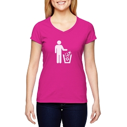 Trash Religion Women's Cotton V-Neck T-Shirt
