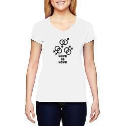 Love is Love Women's Cotton V-Neck T-Shirt