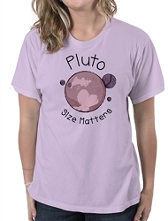 Pluto Size Matters Women's Cotton Crew Neck T-Shirt