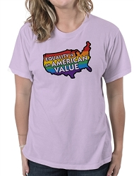 Equality is an American Value Women's Cotton Crew Neck T-Shirt