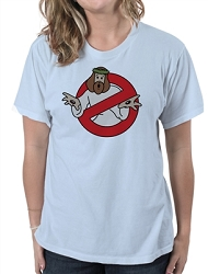 Ghost Buster Jesus Parody Women's Cotton Crew Neck T-Shirt
