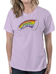 Every Time You See a Rainbow God is Having Gay Sex Women's Cotton Crew Neck T-Shirt