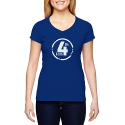 I am 4th Women's Cotton V-Neck T-Shirt