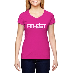 ATHEIST Block Women's Cotton V-Neck T-Shirt