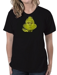 Donald Trump Grinch Face Women's Cotton Crew Neck T-Shirt