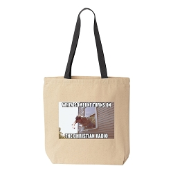 Christian Radio Canvas Tote