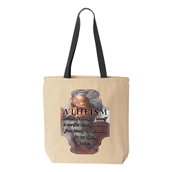 Atheism for the Logical Person Natural Canvas Tote - [Black Handle]