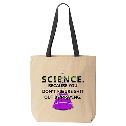 Science Figures Shit Out Canvas Tote