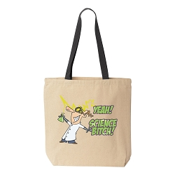 Yeah! Science Bitch! Natural Canvas Tote - [Black Handle]