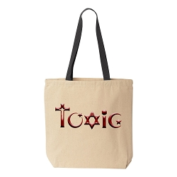 Toxic Religion Natural Canvas Tote - [Black Handle]