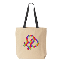 Female Couple Pride Canvas Tote