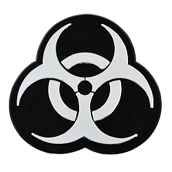 Biohazard  Chrome Auto Emblem - 4