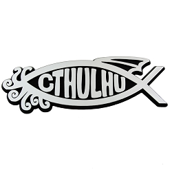 Cthulhu Fish Chrome Auto Emblem - 5.25