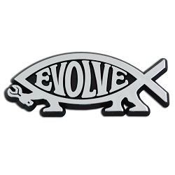 EvolveFish Chrome Auto Emblem - 3.25