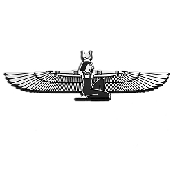 Winged Isis Plastic Auto Emblem - [Silver][5.75'' x 2'']