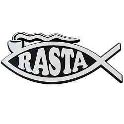 Rasta Fish Chrome Auto Emblem - 5